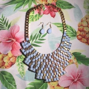 NWOT Windsor bib necklace and earrings set